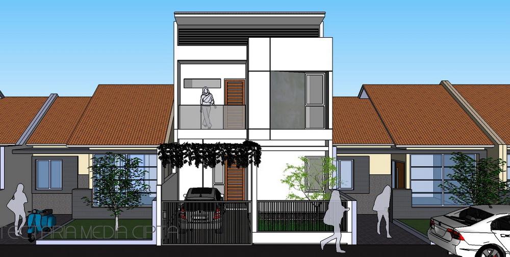 Desain Renovasi Dan Pengembangan Rumah Type 45  PT. Architectaria Media Cipta