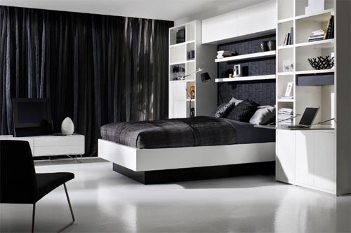 black-and-white-storage-bed