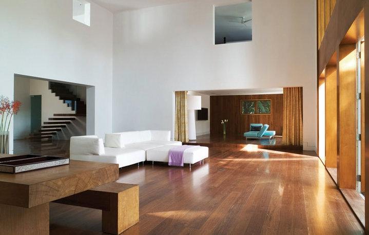 living-room-dengan-lantai-parquet