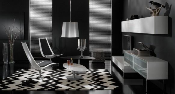 living-room-dengan-skema-warna-hitam