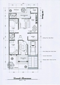 Desain rumah mungil dan artistik – denah/layout