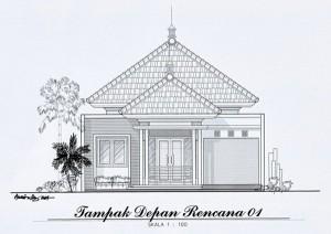 Desain rumah mungil dan artistik – tampak depan