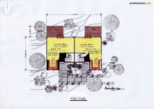 Desain Rumah 1 - First Floor