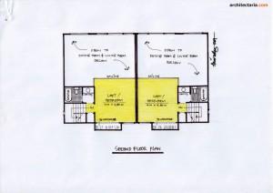 Desain Rumah 3 - Second Floor
