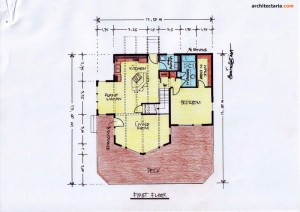 Desain Rumah 4 - First Floor