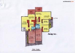 Desain Rumah 5 - First Floor