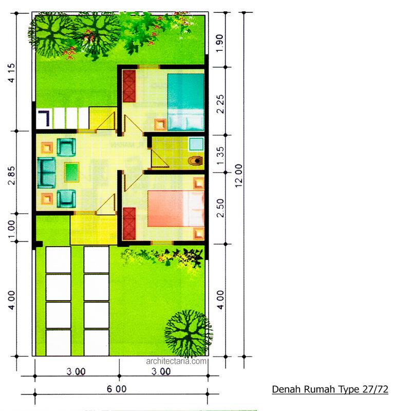 Desain Rumah Mungil Type 27 Pt Architectaria Media Cipta