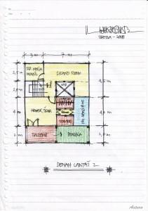 Gambar Sketsa Desain Rumah 3-2