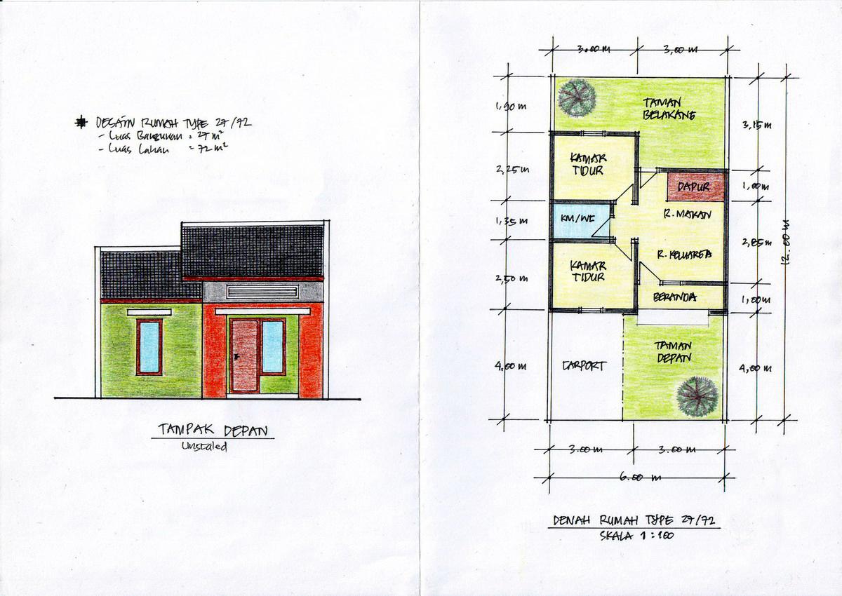Tip 45 Kumpulan Gambar Denah Rumah 1 Lantai 110 S D