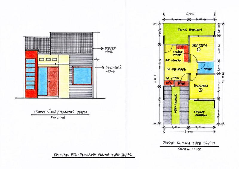 Gambar 1 – Denah dan Tampak Depan Bangunan (Klik Pada Gambar Untuk ...