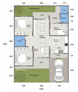Desain Rumah Sederhana Tipe 70