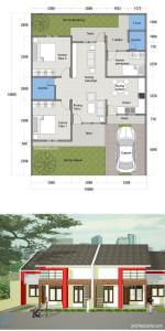 desain-rumah-type_70-layout_denah-dan-tampak-depan