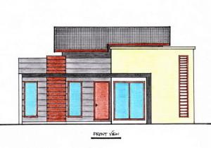 Tampak Depan Rumah Ukuran 11 m  x 11 m-view2