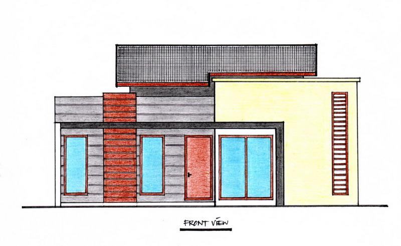 desain rumah minimalis ukuran 11 m x 11 m pt
