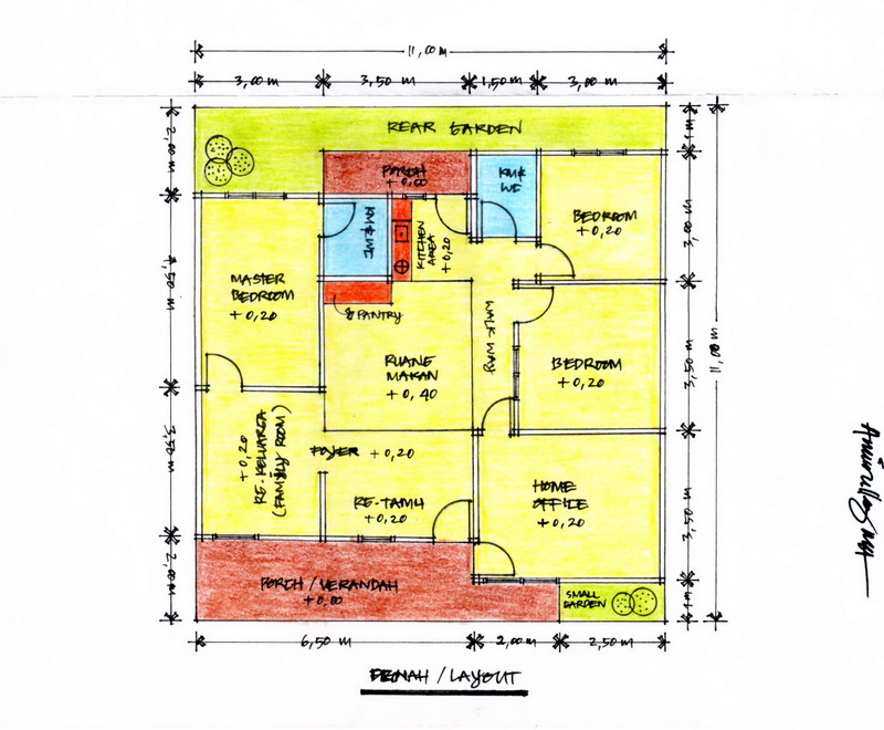 Gambar 2 – Denah/Layout Bangunan (Klik Pada Gambar Untuk Memperbesar ...