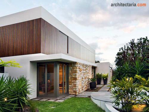 Mempercantik dinding eksterior rumah dengan pasangan batu for Exterior home finishes design