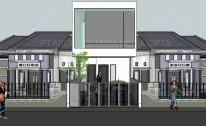 Desain Rumah Minimalis (Box House) di Rawasari – Jakarta Timur