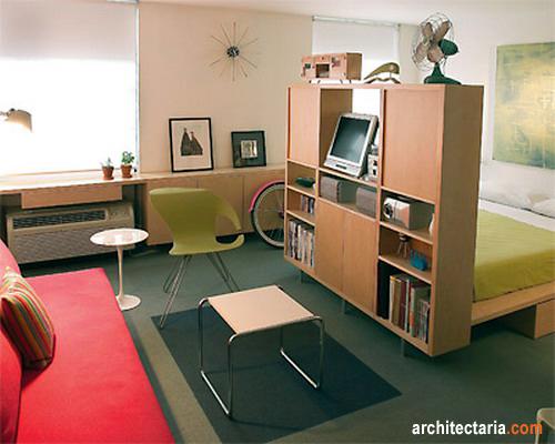 Beberapa ide desain interior untuk apartemen tipe studio for Design interior apartemen 1 bedroom