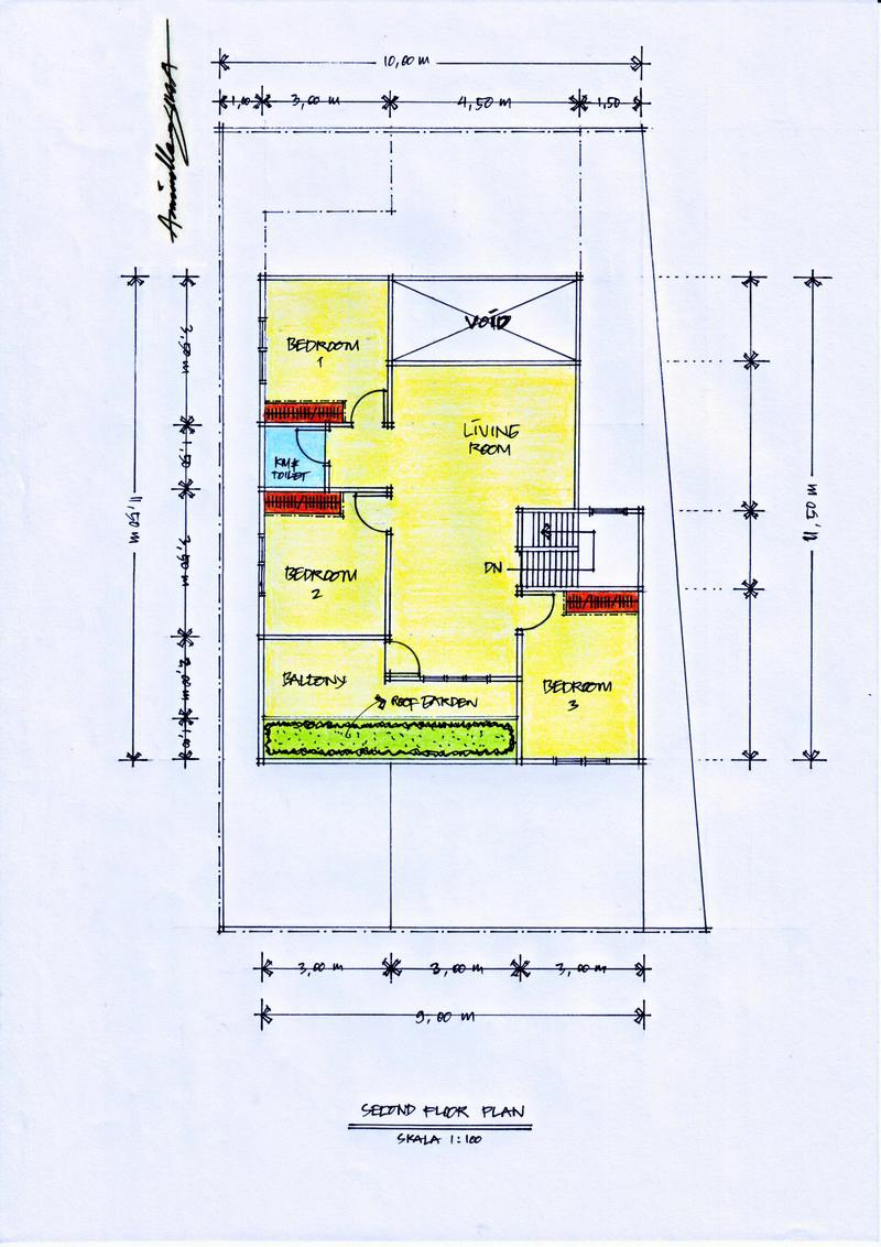 Desain Rumah Diatas Lahan Berbentuk Trapesium Pt Architectaria