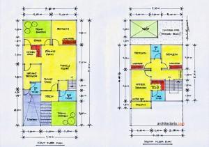 desain rumah minimalis ukuran 7,50 m x 15,00 m   pt