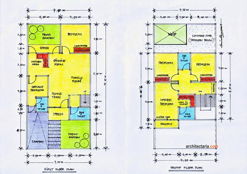 Desain Rumah Ukuran 7 X 13 M