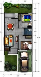 desain renovasi dan pengembangan rumah type 45 | pt