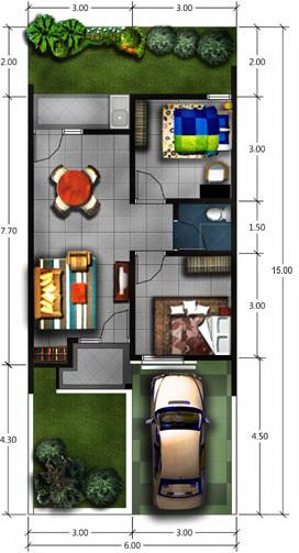 Desain Renovasi Dan Pengembangan Rumah Type 45 Pt