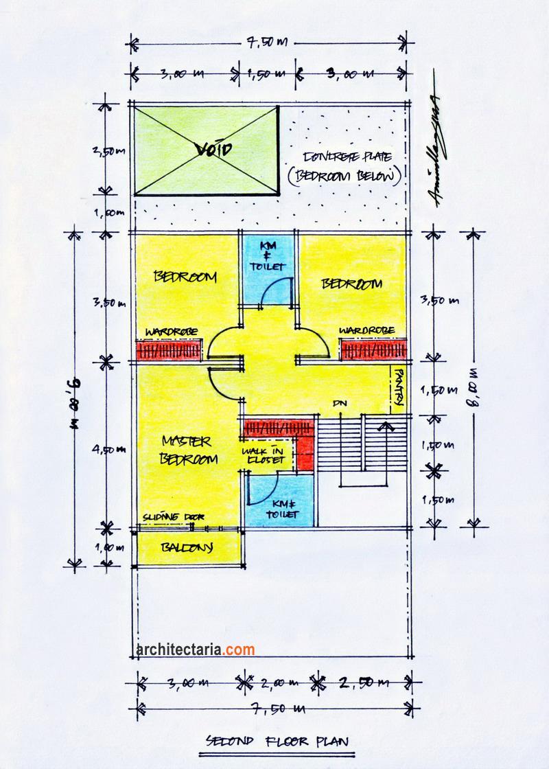 Desain Rumah Minimalis Ukuran 7,50 m x 15,00 m