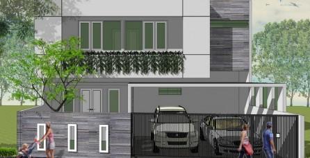 Desain Arsitektur Rumah Modern Tropis di Cipinang – Jakarta Timur