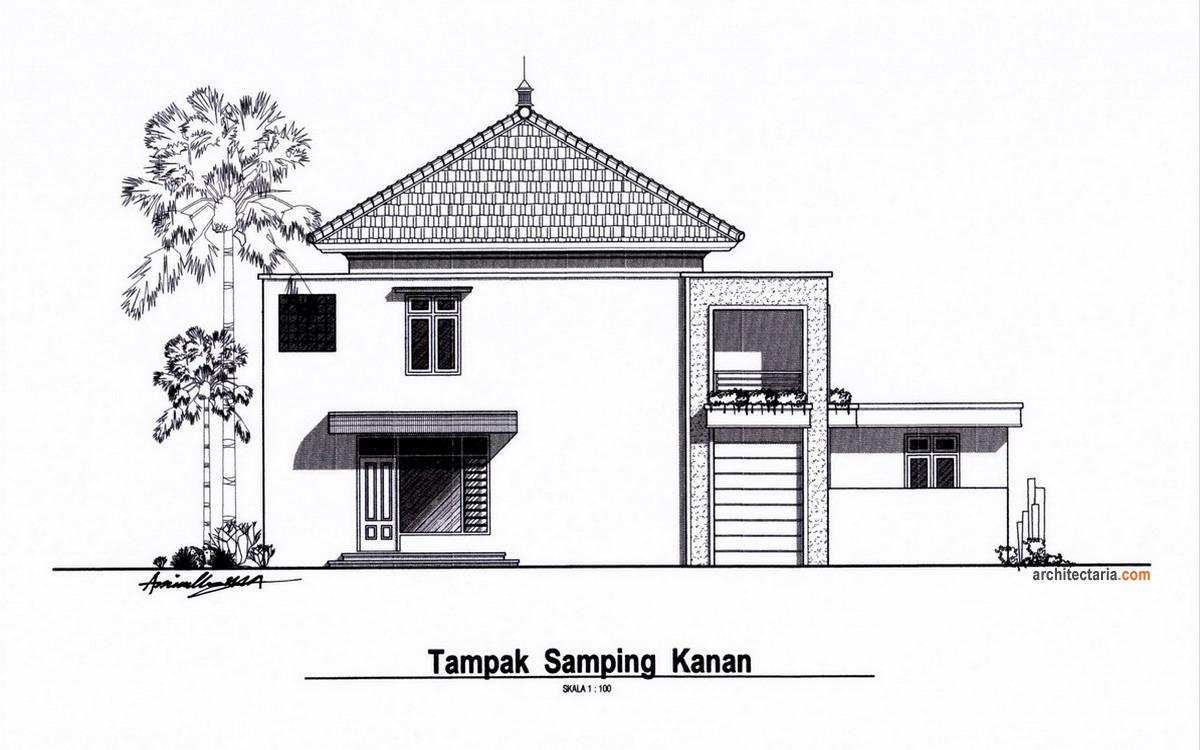 desain rumah tinggal sekaligus rumah kost counter hp