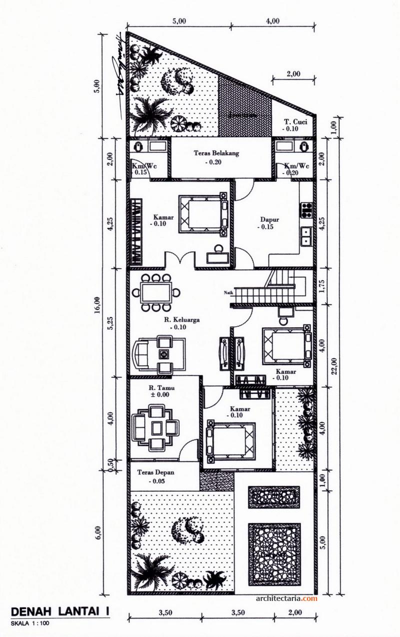 desain rumah bergaya modern eklektik pt architectaria