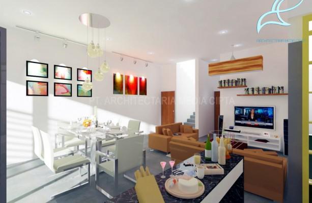90 sqm house – ruang keluarga dan ruang makan 2 copy