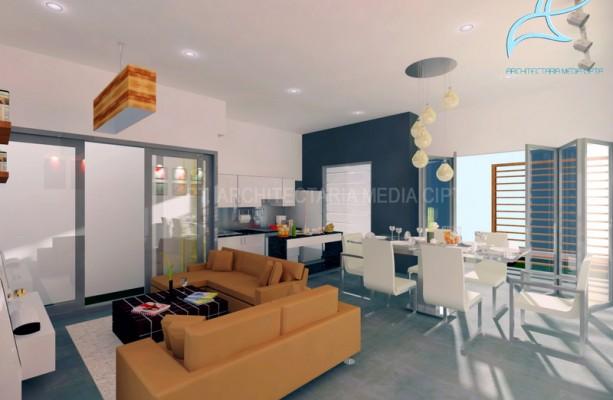 90 sqm house – ruang keluarga dan ruang makan 3 copy