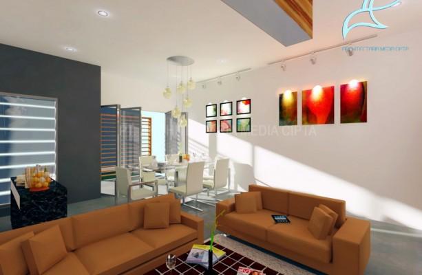90 sqm house – ruang keluarga dan ruang makan 4 copy