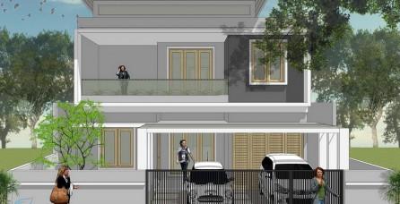 Desain Arsitektur Rumah Modern Tropis di Jagakarsa – Jakarta Selatan