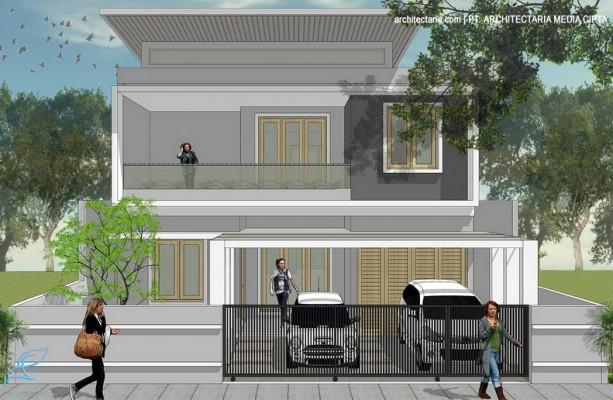 desain rumah modern tropis jagakarsa_1a