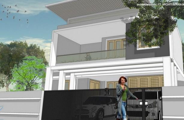 desain rumah modern tropis jagakarsa_4a