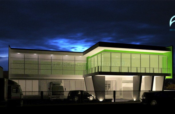 front view (night scene)-office at HI-final propose