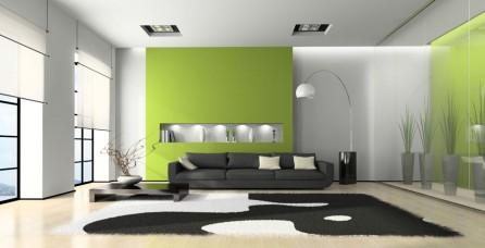 Desain Interoir Apartemen Dengan Nuansa Hijau