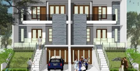 Desain Arsitektur Rumah Kopel Tropis Minimalis di Cinere – Depok