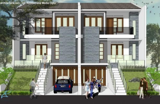 desain rumah townhouse luas 90 m2_1a