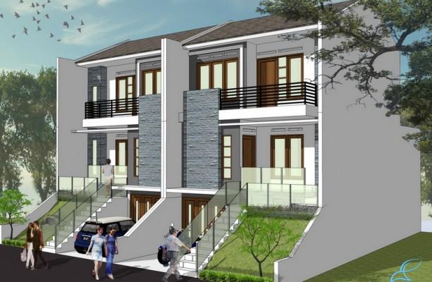 desain rumah townhouse luas 90 m2_3a