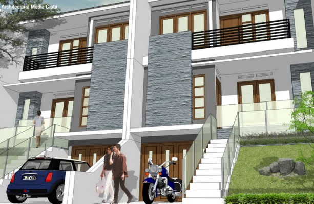 desain rumah townhouse luas 90 m2_4a