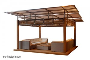 desain gazebo kayu modern