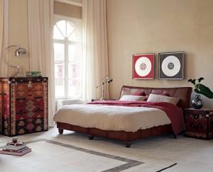 desain interior kamar tidur bergaya retro