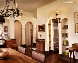 desain ruang makan bergaya mediterania