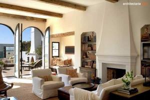 desain ruang tamu bergaya mediterania