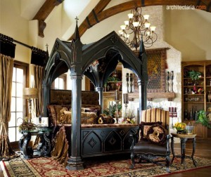 gothic interior and furniture
