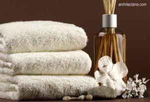 handuk dan wewangian untuk spa