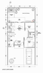 layout perubahan lantai dasar